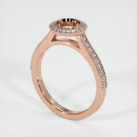 14K Rose Gold Pave Diamond Ring Setting - JS649R14