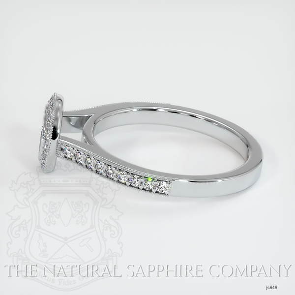 Bezel Set Pave Diamond Halo Ring Setting JS649 Image 3