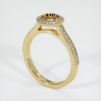 14K Yellow Gold Pave Diamond Ring Setting - JS649Y14