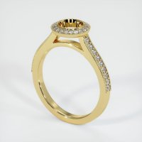 18K Yellow Gold Pave Diamond Ring Setting - JS649Y18