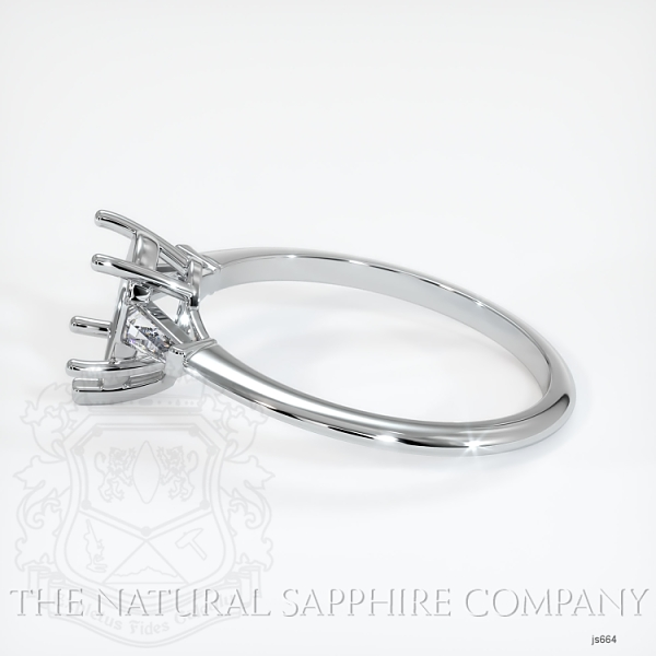 3 Stone Ring Setting - Tapered Baguette Diamonds JS664 Image 3