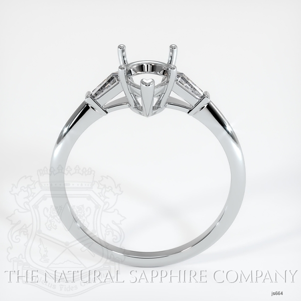 3 Stone Ring Setting - Tapered Baguette Diamonds JS664 Image 4