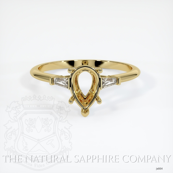 3 Stone Ring Setting - Tapered Baguette Diamonds JS664 Image 2