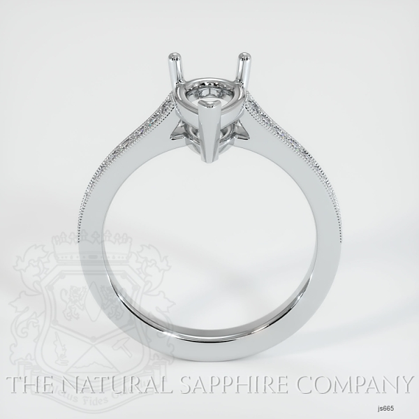 3 Prong Solitaire Setting With Pave Diamonds JS665 Image 4