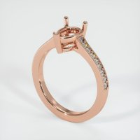 14K Rose Gold Pave Diamond Ring Setting - JS665R14