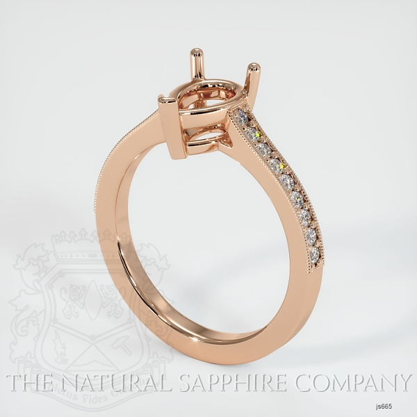 3 Prong Solitaire Setting With Pave Diamonds JS665 Image