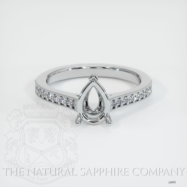 3 Prong Solitaire Setting With Pave Diamonds JS665 Image 2
