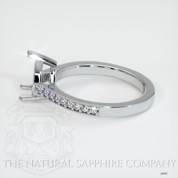 3 Prong Solitaire Setting With Pave Diamonds JS665 Image 3