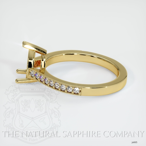 3 Prong Pave Ring Setting JS665 Image 3