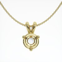 18K Yellow Gold Pendant Setting - JS670Y18
