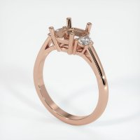 14K Rose Gold Ring Setting - JS68R14