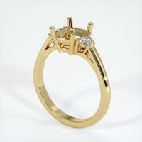 18K Yellow Gold Ring Setting - JS68Y18
