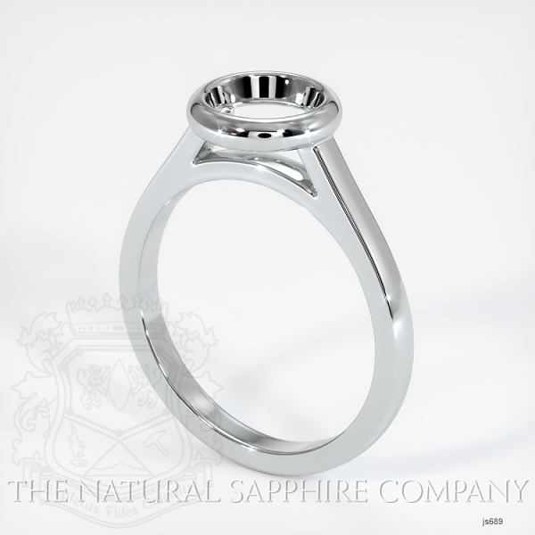Bezel Set Solitaire Ring Setting JS689 Image
