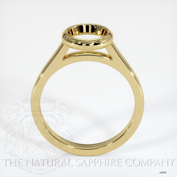 Bezel Set Solitaire Ring Setting JS689 Image 4