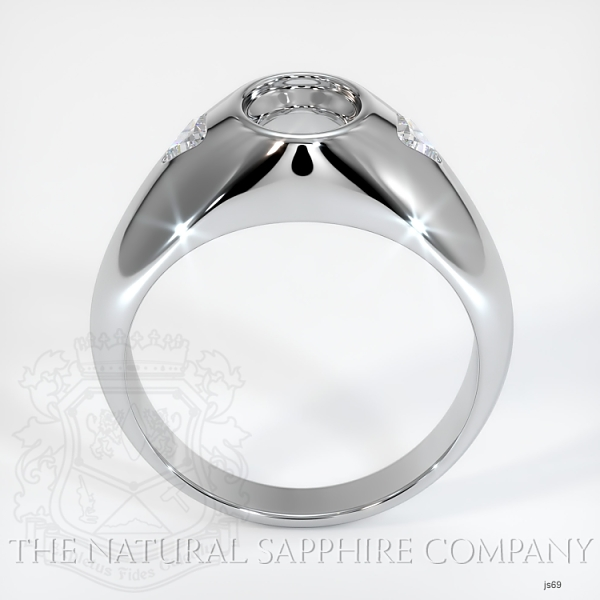 Burnished Ring Setting - Trillion Diamond Accents JS69 Image 4