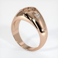 18K Rose Gold Ring Setting - JS69R18