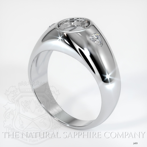 Burnished Ring Setting - Trillion Diamond Accents JS69 Image