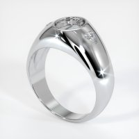 14K White Gold Ring Setting - JS69W14