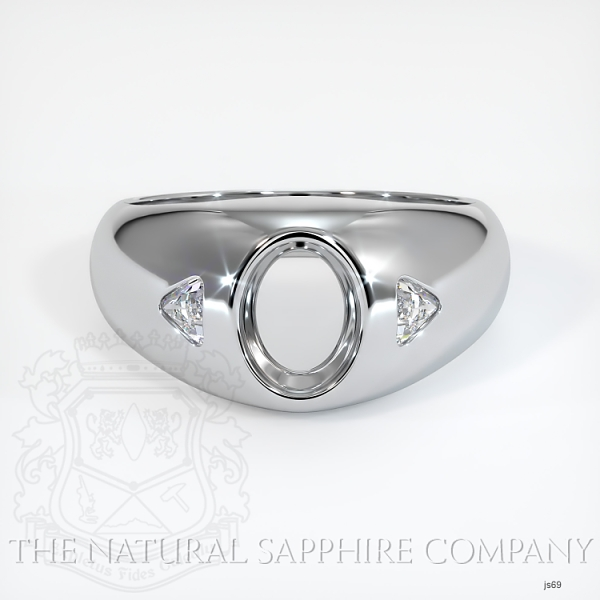 Burnished Ring Setting - Trillion Diamond Accents JS69 Image 2