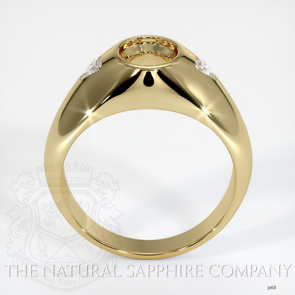 Bezel Ring Setting - Trillion Diamond Accents JS69 Image 4