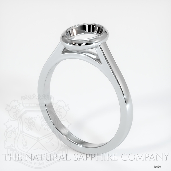 Bezel Set Solitaire Ring Setting JS690 Image