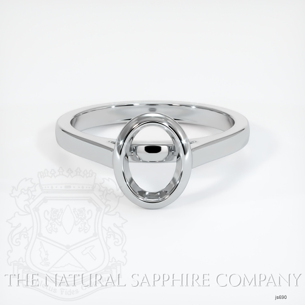 Bezel Set Solitaire Ring Setting JS690 Image 2