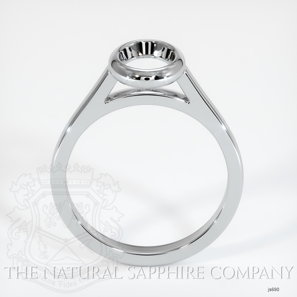Bezel Set Solitaire Ring Setting JS690 Image 4