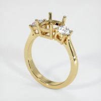 14K Yellow Gold Ring Setting - JS70Y14