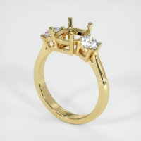 18K Yellow Gold Ring Setting - JS70Y18