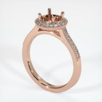 14K Rose Gold Pave Diamond Ring Setting - JS702R14