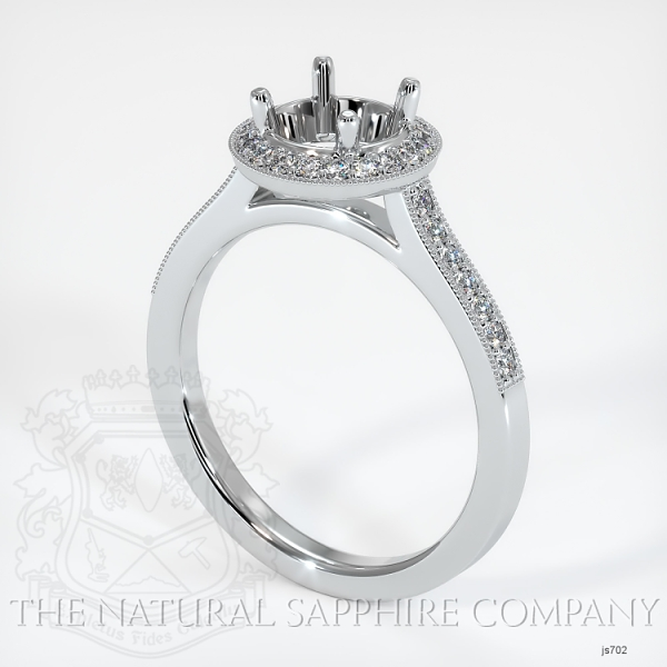 Pave Diamond Halo Ring Setting JS702 Image