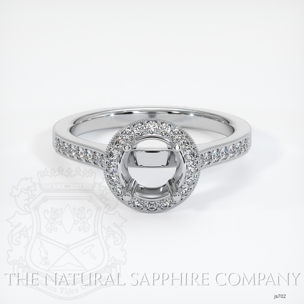 Pave Diamond Halo Ring Setting JS702 Image 2