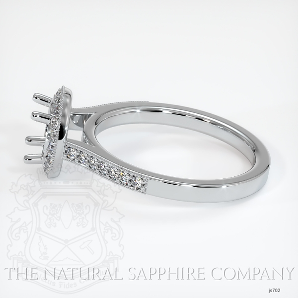 Pave Diamond Halo Ring Setting JS702 Image 3