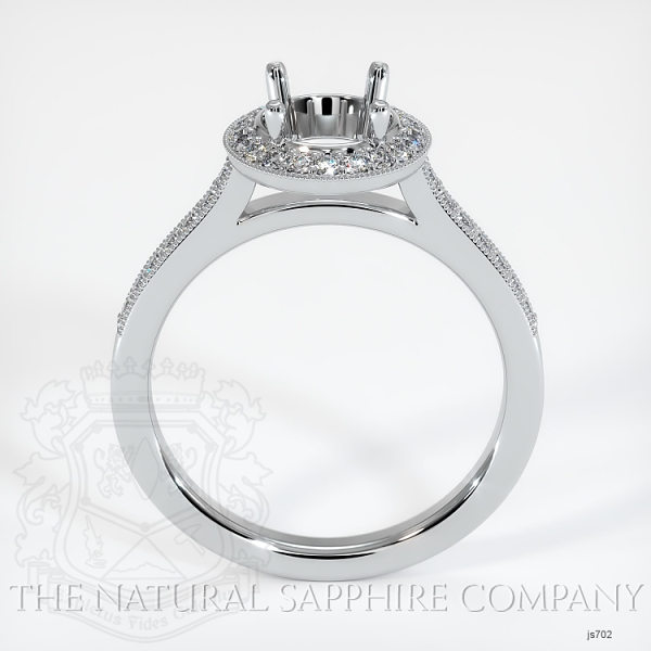 Pave Diamond Halo Ring Setting JS702 Image 4