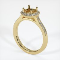 14K Yellow Gold Pave Diamond Ring Setting - JS702Y14