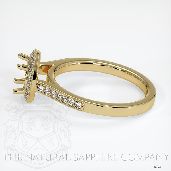 4 Prong Pave Ring Setting JS702 Image 3