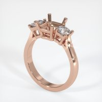 14K Rose Gold Ring Setting - JS71R14