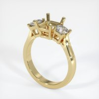 14K Yellow Gold Ring Setting - JS71Y14