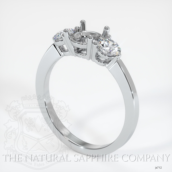 3 Stone Ring Setting - Round Diamonds JS712 Image
