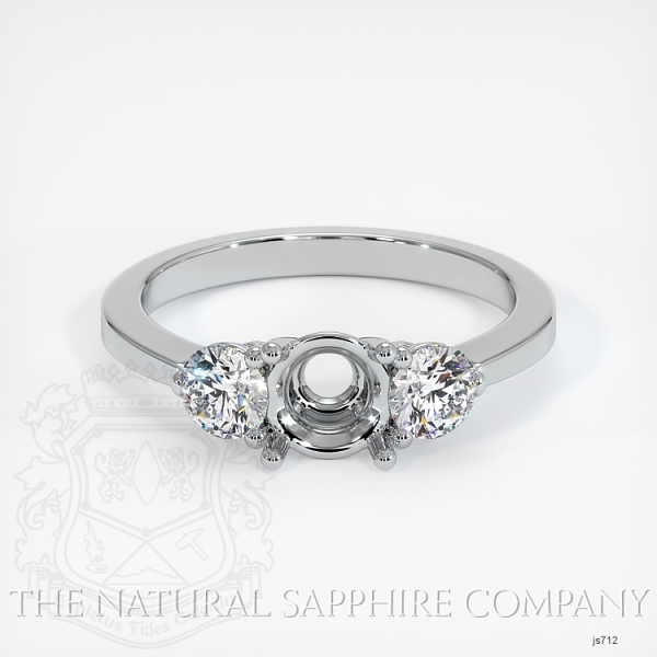 3 Stone Ring Setting - Round Diamonds JS712 Image 2