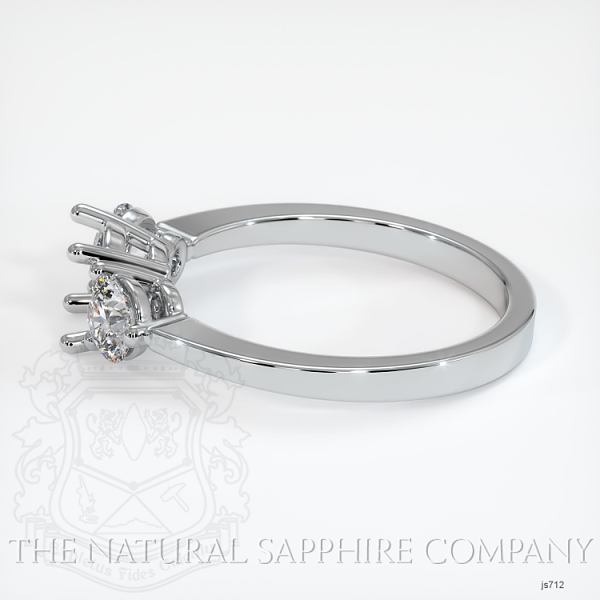 3 Stone Ring Setting - Round Diamonds JS712 Image 3