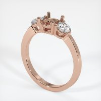 14K Rose Gold Ring Setting - JS712R14