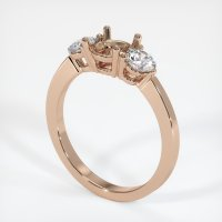18K Rose Gold Ring Setting - JS712R18
