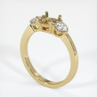 14K Yellow Gold Ring Setting - JS712Y14