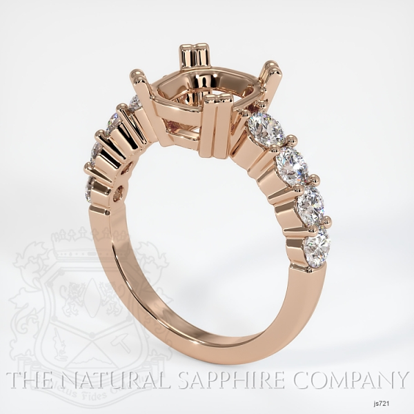 4 Prong Multi Stone Ring Setting JS721 Image
