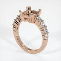 18K Rose Gold Ring Setting - JS721R18