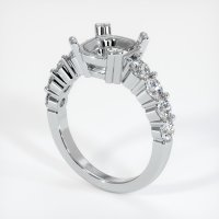 14K White Gold Ring Setting - JS721W14