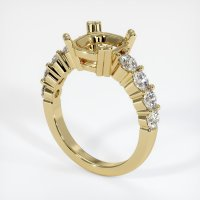 14K Yellow Gold Ring Setting - JS721Y14