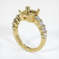 18K Yellow Gold Ring Setting - JS721Y18