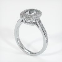 18K White Gold Pave Diamond Ring Setting - JS730W18